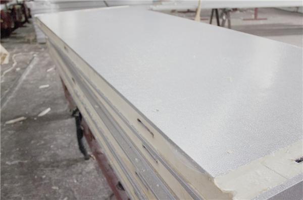 双面不锈钢压花铝板搭钩冷库板